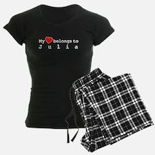 My Heart Belongs To Julia Pajamas