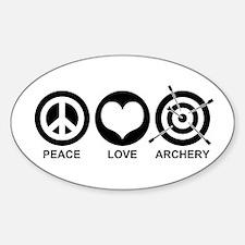 Peace Love Archery Sticker (Oval)