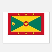 Grenada Flag Picture Postcards (Package of 8)