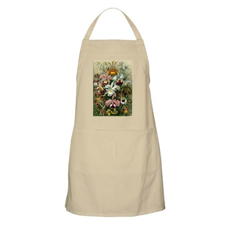 1904 Orchids Art Forms of Nature Print Apron