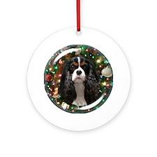 Tricolor Cavalier Ornament (Round)