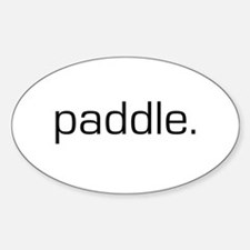 Paddle Oval Bumper Stickers