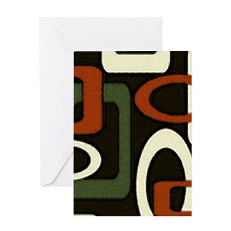 mod loops red/green blank Greeting Card