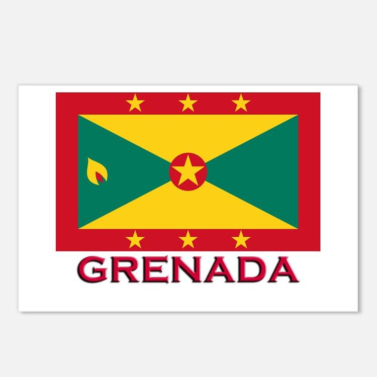 Grenada Flag Stuff Postcards (Package of 8)