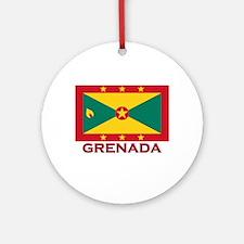 Grenada Flag Stuff Ornament (Round)
