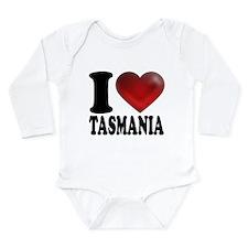 I Heart Tasmania Long Sleeve Infant Bodysuit