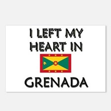 I Left My Heart In Grenada Postcards (Package of 8