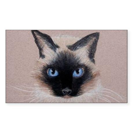 Siamese Cat Sticker (Rectangle)