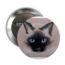 "Siamese Cat 2.25"" Button"