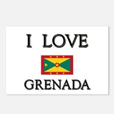 I Love Grenada Postcards (Package of 8)