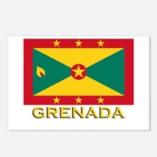 Grenada Flag Merchandise Postcards (Package of 8)