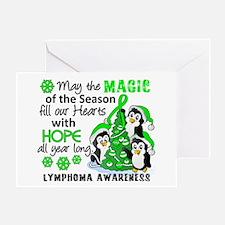 Holiday Penguins Lymphoma Greeting Card