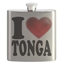 I Heart Tonga Flask
