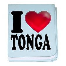 I Heart Tonga baby blanket