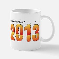 2013 Happy New Year Orange to Red Mug