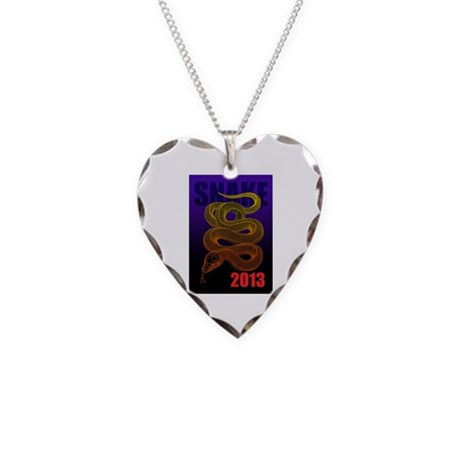 2013snake2 Necklace Heart Charm