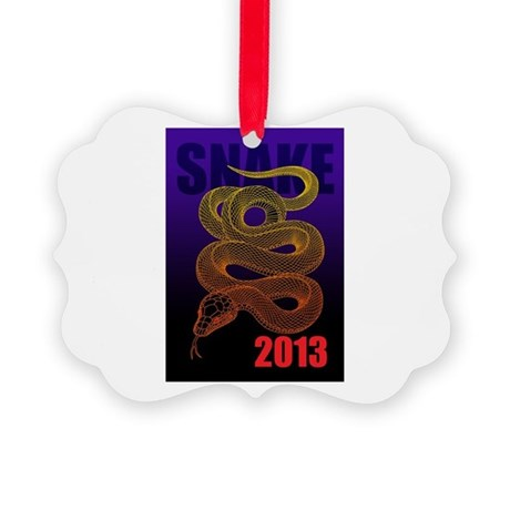 2013snake2 Picture Ornament