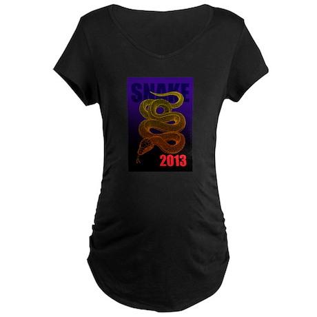 2013snake2 Maternity Dark T-Shirt