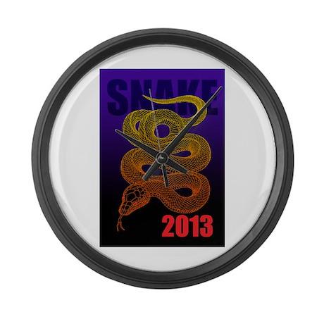 2013snake2 Large Wall Clock