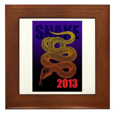 2013snake2 Framed Tile