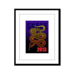 2013snake2 Framed Panel Print