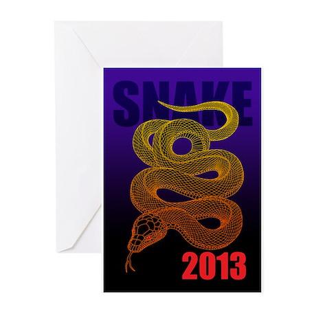 2013snake2 Greeting Cards (Pk of 20)