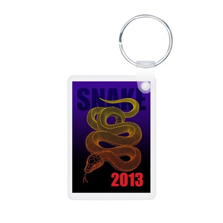 2013snake2 Aluminum Photo Keychain