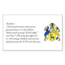 Strachan Coat of Arms w/ Surname Decal