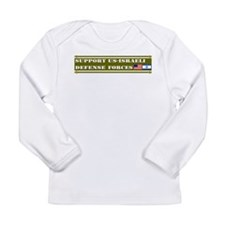 Support US-Israel Defense Forces Long Sleeve Infan