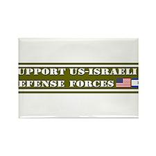 Support US-Israel Defense Forces Rectangle Magnet