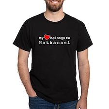 My Heart Belongs To Nathanael T-Shirt