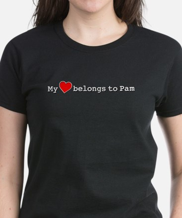 My Heart Belongs To Pam Women's Dark T-Shirt