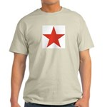 Red Five Point Star Light T-Shirt
