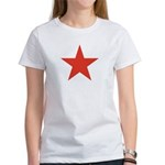 Red Five Point Star Women's T-Shirt