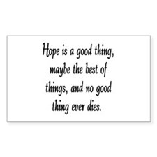 HOPE... Rectangle Decal