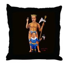 Cameron Clegg: Bloody Cuts Throw Pillow