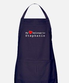 My Heart Belongs To Stephanie Apron (dark)