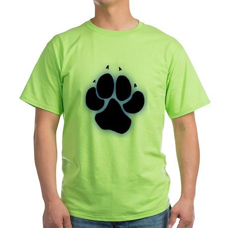 Spotted Hyena Pawprint Blue T-Shirt T-Shirt