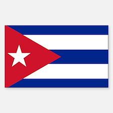Flag of Cuba Sticker (Rectangle)