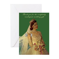 greedy bride thank you cards