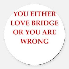 BRIDGE.png Round Car Magnet