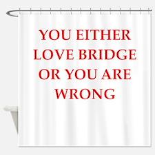 BRIDGE.png Shower Curtain