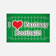 I Love Fantasy Football Rectangle Magnet
