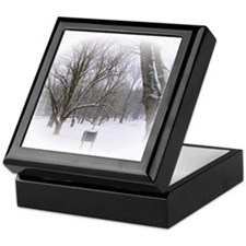 Beautiful Winter Scene Keepsake Box