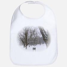 Beautiful Winter Scene Bib