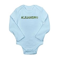 Alejandro, Vintage Camo, Long Sleeve Infant Bodysu