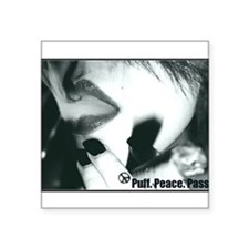 "Puff.Peace.Pass. Square Sticker 3"" x 3"""