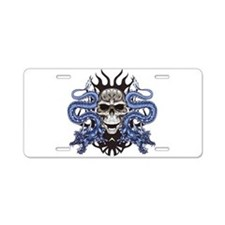Blue Skull.png Aluminum License Plate