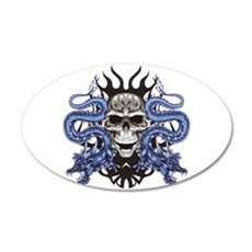 Blue Skull.png Wall Decal