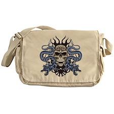Blue Skull.png Messenger Bag